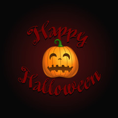 Happy Halloween. Halloween greeting card with scary logo vector