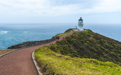 Cape Reinga lighthouse at the tip of the North Island in New Zea