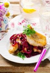 Fish Fillets in a Sweet-and-Sour Sauce
