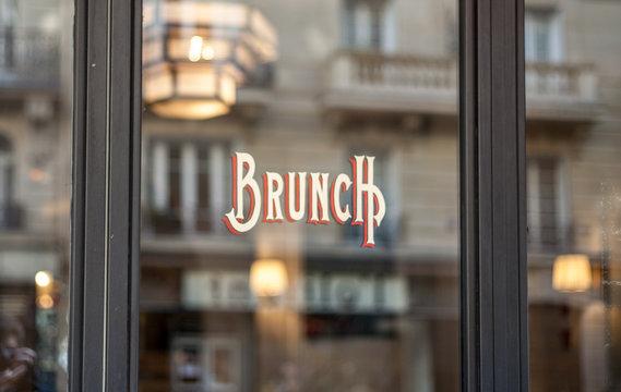 Bistro banner in Paris