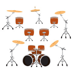 Drum set, vector illustration