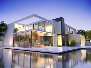Modern luxurious residence
