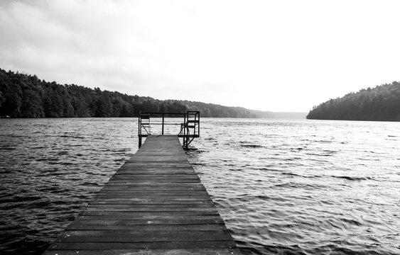 Pomost - Kładka nad jeziorem