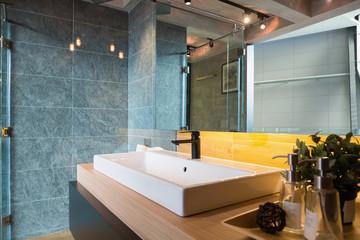 loft style bathroom