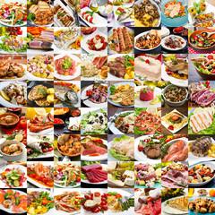 collage di foto di secondi piatti della cucina internazionale