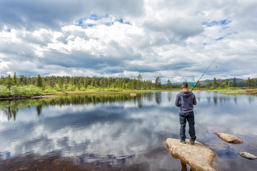 Flyfishing in the Norwegian mountains