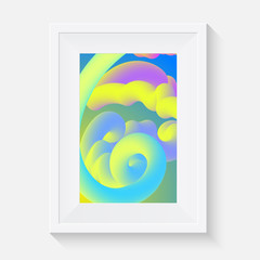 vector art frame with abstract poster design