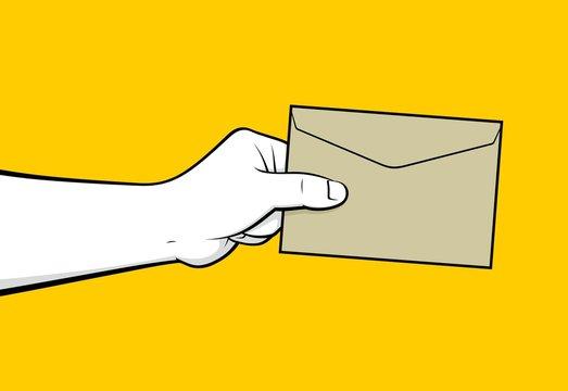 Man hand delivering mail