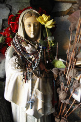 Holy Statue At St. Brigid's Well; Liscannor, County Clare, Ireland