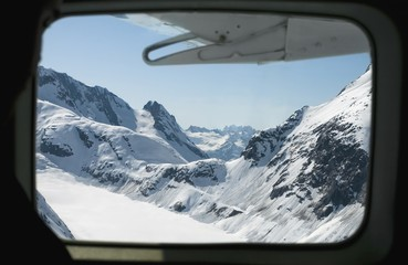 View of Chilkat Pass from an airplane