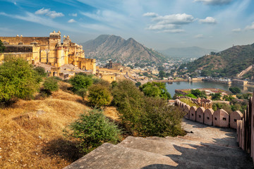 Fotomurales - View of Amer (Amber) fort, Rajasthan, India