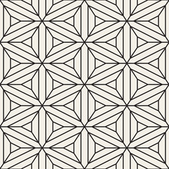 Vector Seamless Black and White Lace Geometric Pattern
