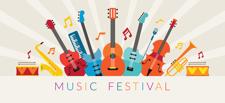 Music Instruments Objects Background, Festival, Event, Live, Concert