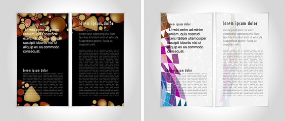 Layout for press magazine, vector
