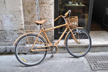 La bicicletta rivestita in legno