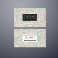 Greeting, invitation or business cards design template