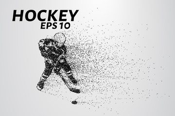 Hockey from the particles. Hockey breaks down into small molecules.