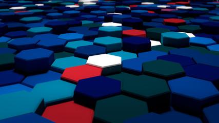 Hexagone blau - Wallpaper/Hintergrund 4k