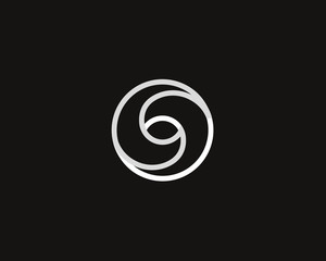 Eye swirl spiral infinity logo symbol design template. Creative linear camera shutter media vision logotype. Photo video control sign. Abstract letter O vector icon.