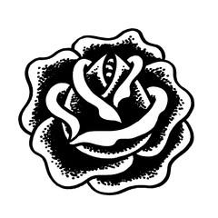 эскиз татуировки роза
