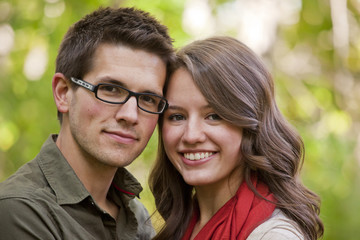 Portrait Of A Newlywed Couple In A Park; Edmonton, Alberta, Canada