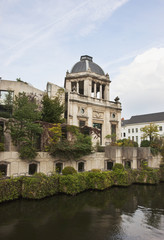 A Building Along The Water's Edge; Gent, Oost-Vlaanderen, Belgium