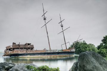 Shipwreck In Jordan Harbour; Ontario, Canada