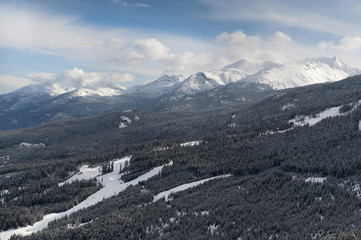 Landscape of the Canadian Rocky Mountains, Whistler, British Columbia, Canada