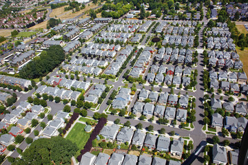 An Aerial View Of Houses; Portland, Oregon, United States of America