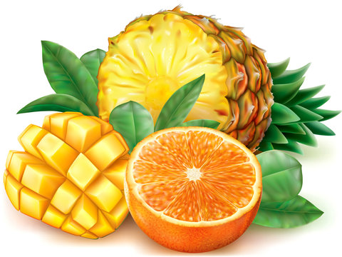 Pineapple mango orange