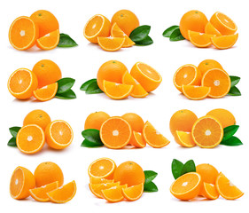 Orange fruit isolated on white background
