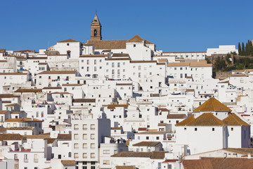 Whitewashed Mountain Town; Alcala De Los Gazules, Cadiz Province, Andalusia, Spain