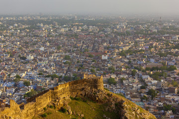 Amer Fort And The Cityscape; Jaipur, Rajasthan, India