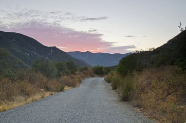 Sunset Over The Santa Ana Mountains Of Southern California; California, United States of America
