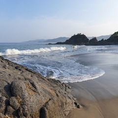 Waves Coming Into Shore Onto The Wet Sand; Sayulita, Mexico