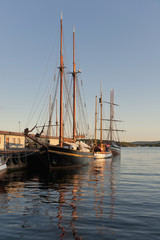 Sailboats Mooring In The Harbour; Oslo, Norway