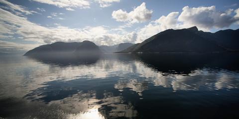 Clouds Reflected In Sognefjord; Sogn Og Fjordane, Norway