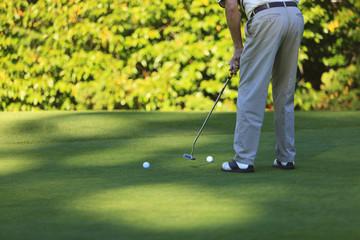 A Golfer At Lynnwood Golf Course; Lynnwood,Washington, United States of America
