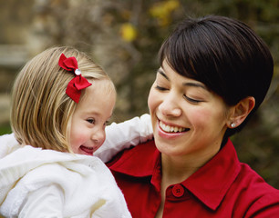 Portrait Of A Mother And Her Daughter With Down Syndrome; Cambridge, England