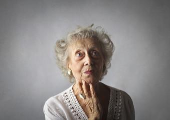 Grandma is thinking