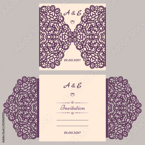 Quot Wedding Invitation Or Greeting Card With Abstract