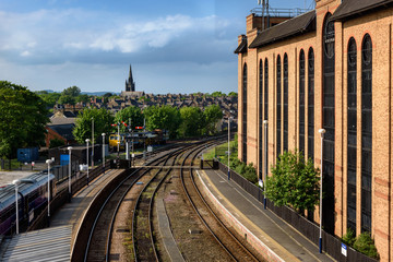 Railway Tracks, Harrogate, England.