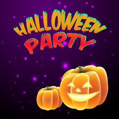 Halloween party for invitation cards and posters. vector illustration.
