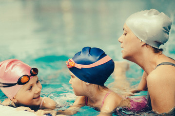 Detail from a swimming class