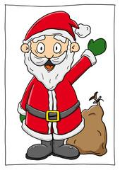 Ausmalbild Weihnachtsmann Koloriert