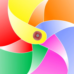 paper windmill color background