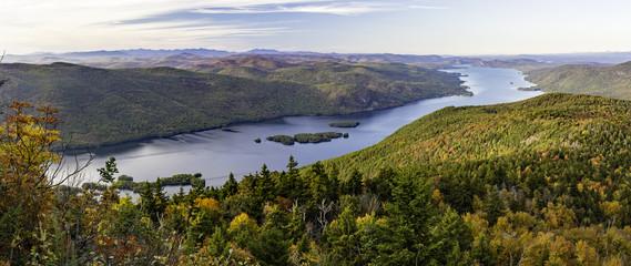 Lake George Autumn Panorama from Black Mountain Wall mural