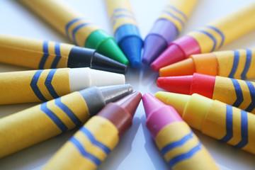 Crayons Close Up High Quality