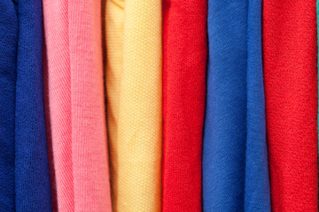 Fabric in Different Colors.