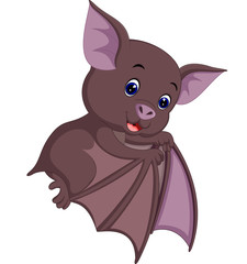 Cute bat cartoon